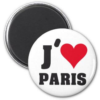 J´AIME PARIS 6 CM ROUND MAGNET
