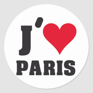 J´AIME PARIS ROUND STICKER