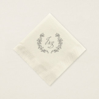 J and S elegant barn wedding Disposable Napkins