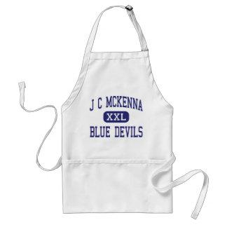 J C McKenna Blue Devils Middle Evansville Adult Apron