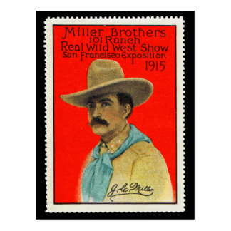 J.C. Miller of the 101 Ranch Poster Stamp Card Postcard