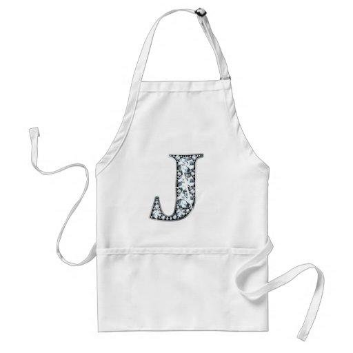 """""""J"""" Diamond Bling Apron"""