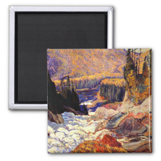 J.E.H. MacDonald: Montreal River artwork Refrigerator Magnet