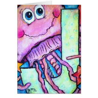 J is for Jellyfish Greeting Card