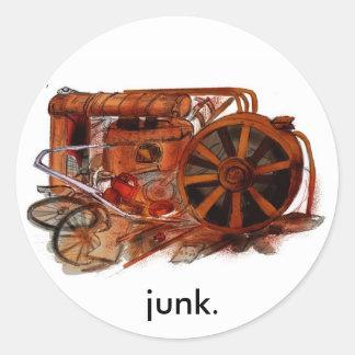 J is for Junkyard Sticker