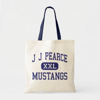 J J Pearce - Mustangs - High - Richardson Texas Tote Bags