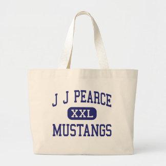J J Pearce - Mustangs - High - Richardson Texas Jumbo Tote Bag