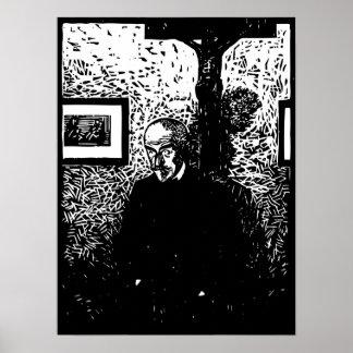 J.-K. Huysmans Woodcut Posters
