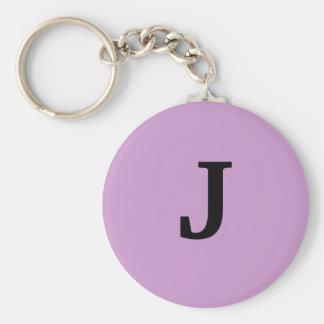 J BASIC ROUND BUTTON KEY RING