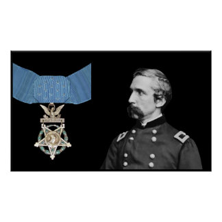 J L Chamberlain and The Medal Of Honor Print