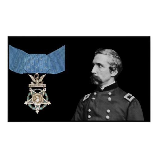 J.L. Chamberlain and The Medal Of Honor Print