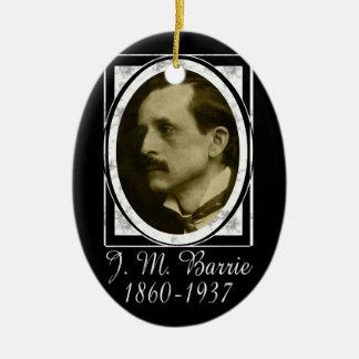 J.M. Barrie Ceramic Oval Decoration