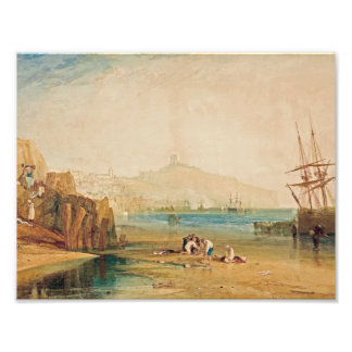 J.M.W. Turner - Scarborough Town and Castle Photographic Print