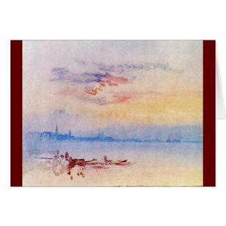 J. M. W. Turner - Venice Looking East 1819 Greeting Card