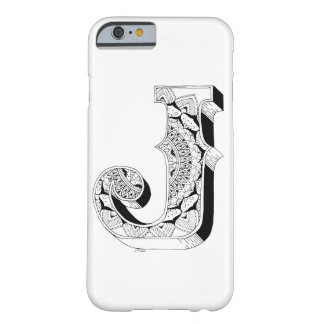 J - Mandala N°1 inside Alphabet N°1 Barely There iPhone 6 Case