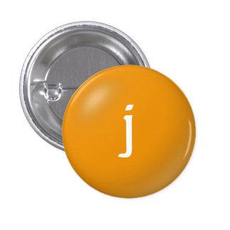 J Monogram Button