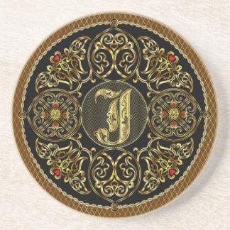 J Monogram Premium Best viewed large. see notes Coasters