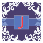 "J Notecard 5.25"" Square Invitation Card"