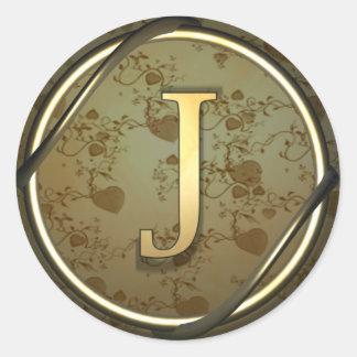 j round sticker