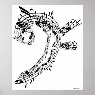 J S Bach s Cello Suite Poster