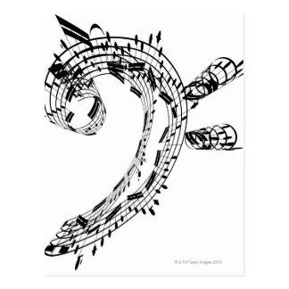J.S.Bach's Cello Suite Postcard