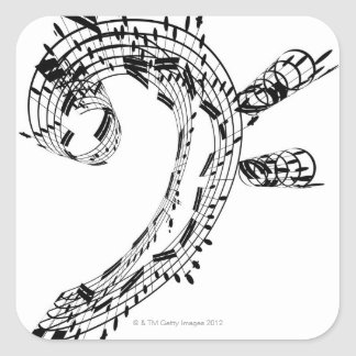 J.S.Bach's Cello Suite Square Sticker