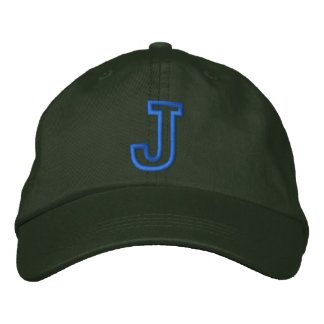 """J"" Small Athletic Letter Baseball Cap"