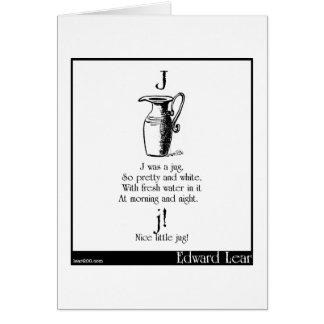 J was a jug greeting card
