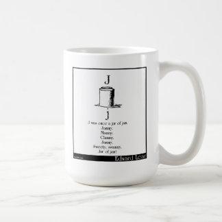 J was once a jar of jam coffee mug