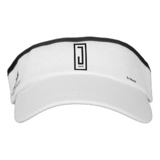 j wear design visor w/white emblem