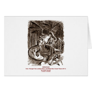 Jabberwock Greeting Card