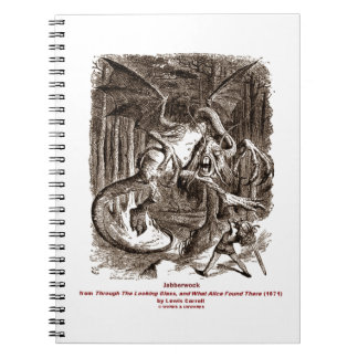 Jabberwock Through The Looking Glass Spiral Note Books