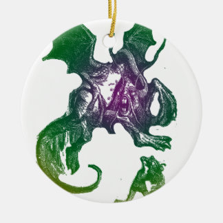 Jabberwocky and Alice Christmas Ornament