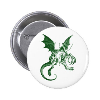 Jabberwocky Green 6 Cm Round Badge