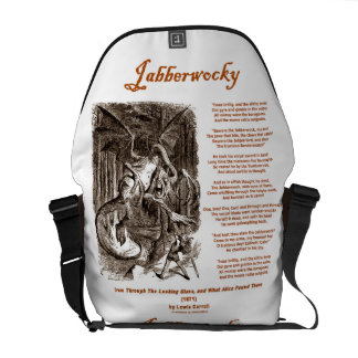 Jabberwocky (Lewis Carroll Through Looking Glass) Messenger Bag