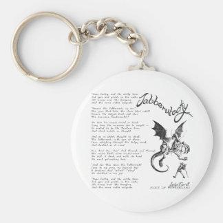 Jabberwocky Poem Basic Round Button Key Ring