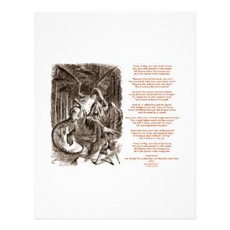 Jabberwocky Poem by Lewis Carroll 21.5 Cm X 28 Cm Flyer