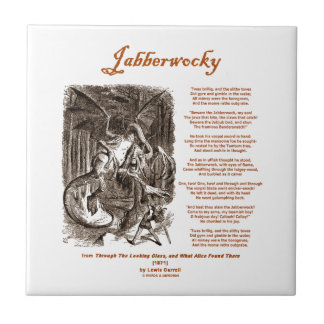 Jabberwocky Poem by Lewis Carroll (Black Adder) Tile