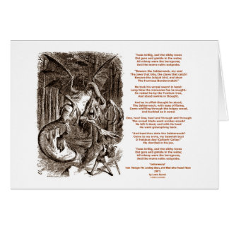 Jabberwocky Poem by Lewis Carroll Greeting Card