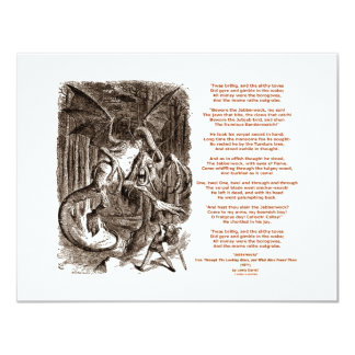 Jabberwocky Poem by Lewis Carroll 4.25x5.5 Paper Invitation Card