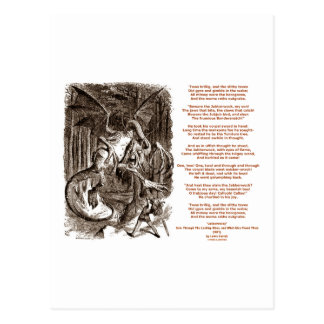 Jabberwocky Poem by Lewis Carroll Post Cards