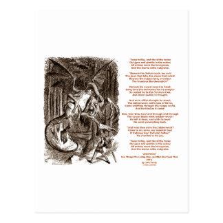 Jabberwocky Poem by Lewis Carroll Postcard
