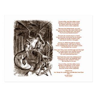 Jabberwocky Poem by Lewis Carroll Postcards