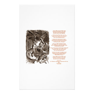 Jabberwocky Poem by Lewis Carroll Stationery Design