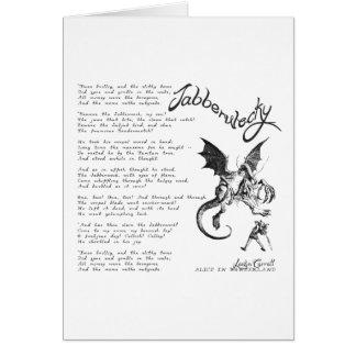 Jabberwocky Poem Card