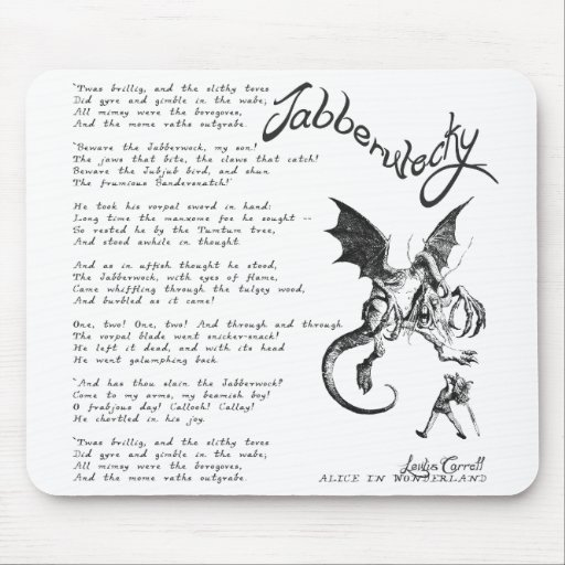 Jabberwocky Poem Mouse Pad