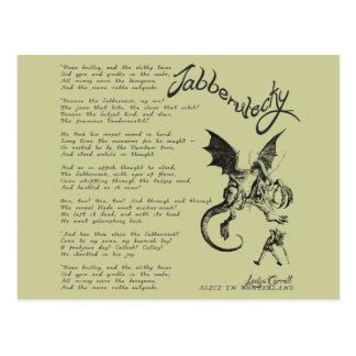 Jabberwocky Poem Post Cards