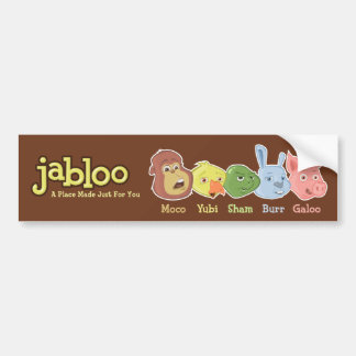 Jabloo Brown Bumper Sticker