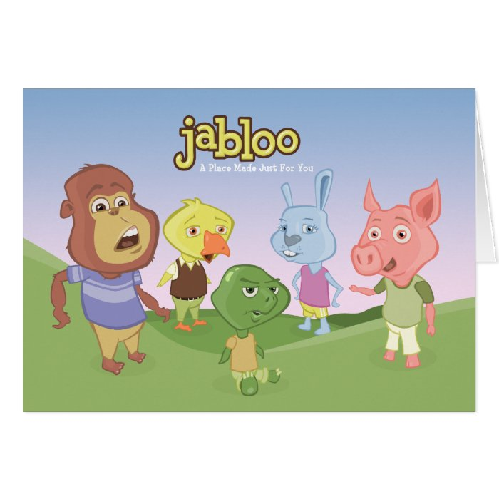 Jabloo Outside Scene Notecards Note Card