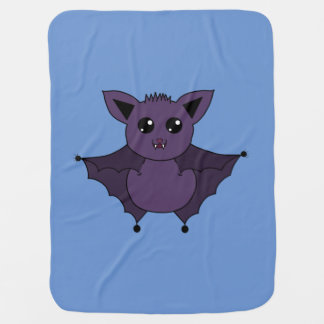 Jac the Bat Flying by night Baby Blankets